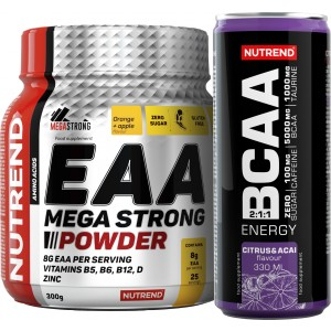 EAA Mega Strong Powder + BCAA Energy ZDARMA! - Nutrend