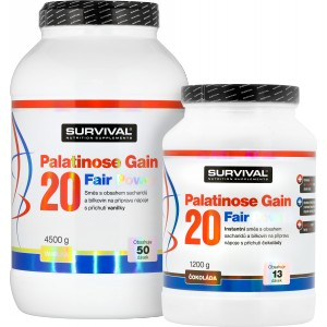 Palatinose Gain 20 Fair Power (R) (4500 g) + 1200 g ZDARMA! - Survival