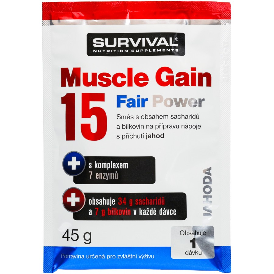 Muscle Gain 15 Fair Power (R) - vzorek (45 g) - Survival