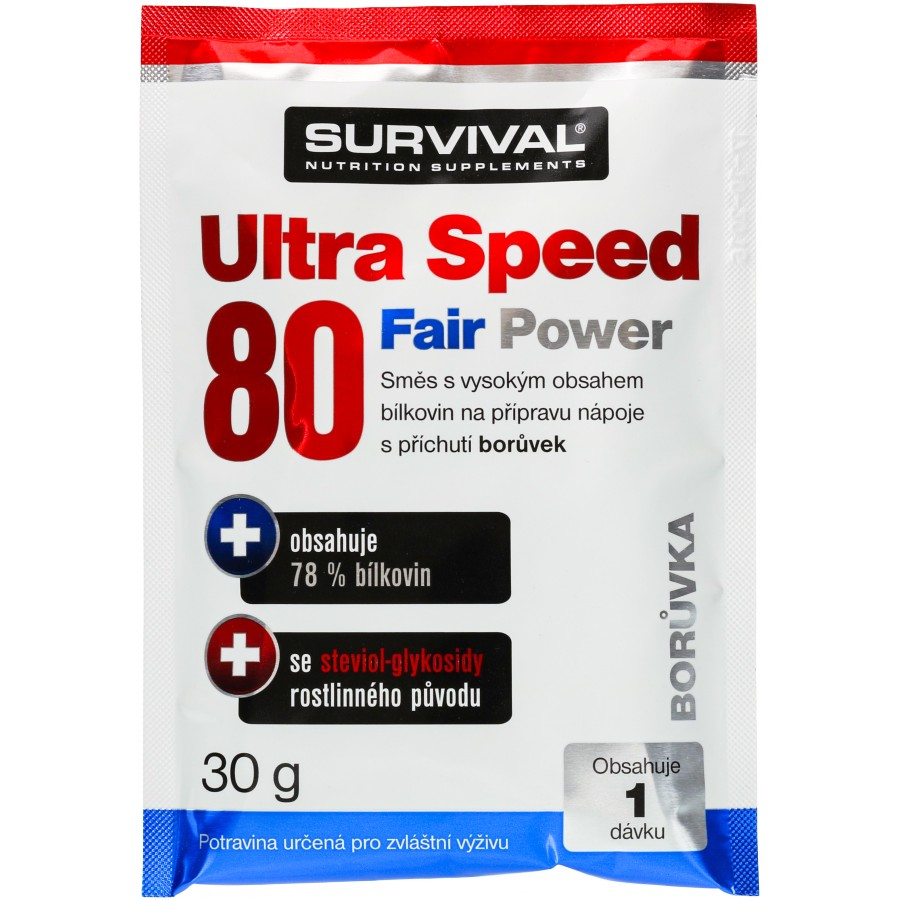 Ultra Speed 80 Fair Power (R) - vzorek (30 g) - Survival