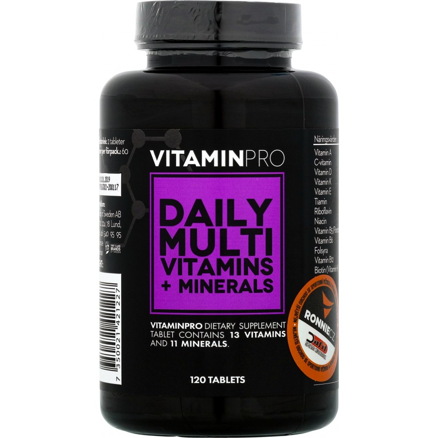 VitaminPro (R) Daily Multi Vitamins + Minerals - First Class Brands of Sweden AB