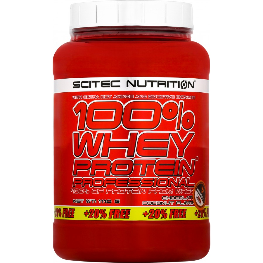 100 % Whey Protein Professional + 20 % ZDARMA! - Scitec Nutrition