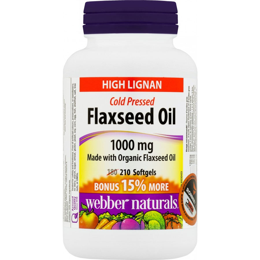 Flaxseed Oil 1000 mg - Webber Naturals