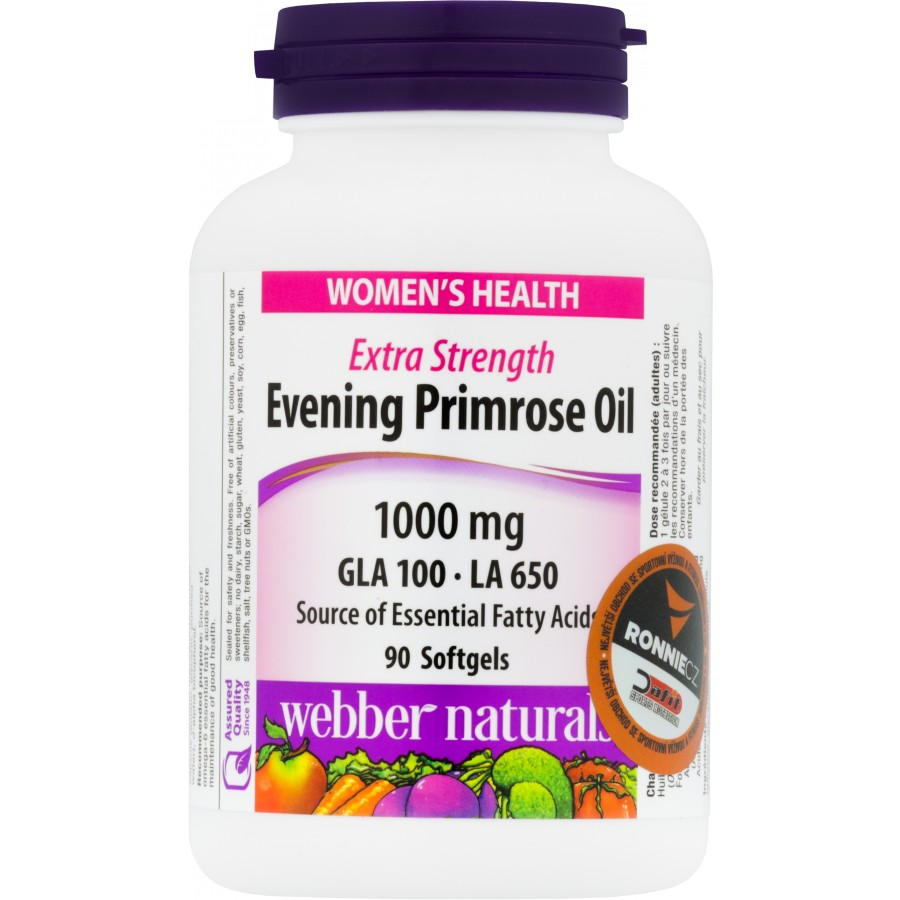 Evening Primrose Oil 1000 mg (pupalkový olej) - Webber Naturals