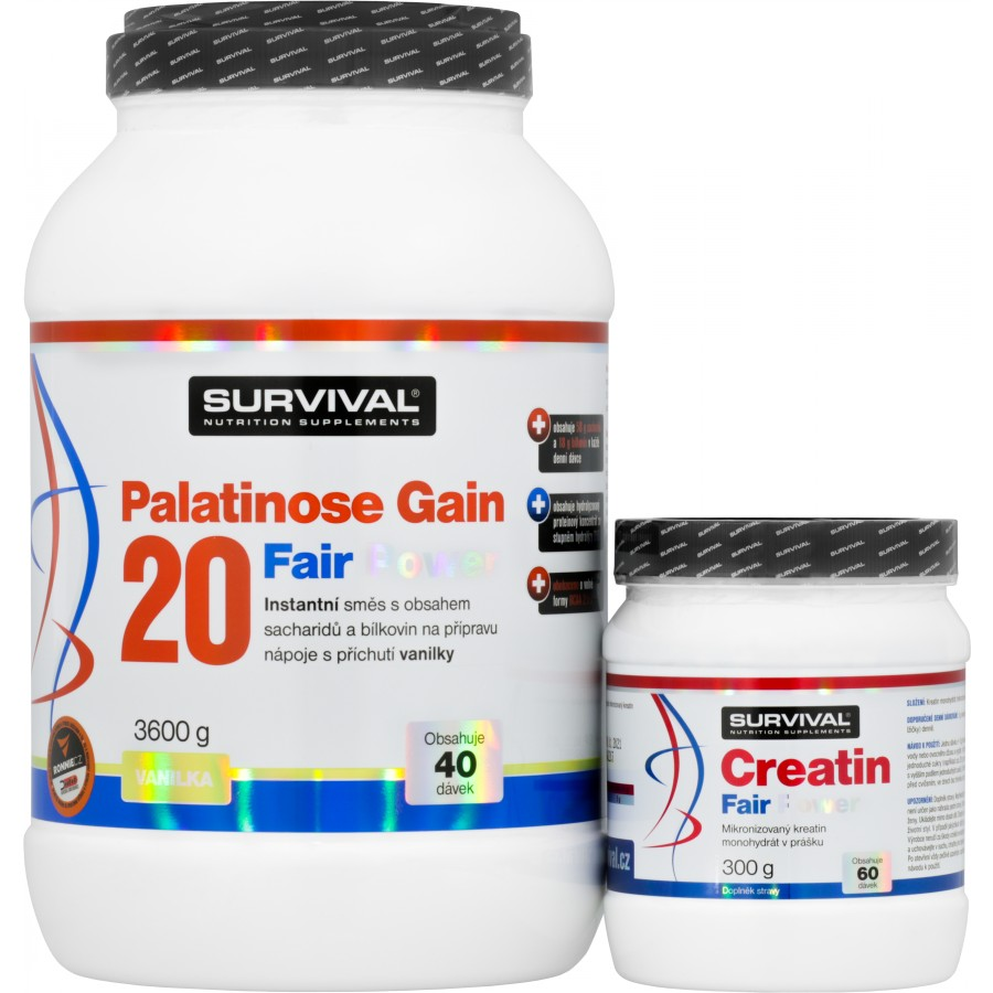 Palatinose Gain 20 Fair Power (R) + Creatin Fair Power (R) ZDARMA! - Survival