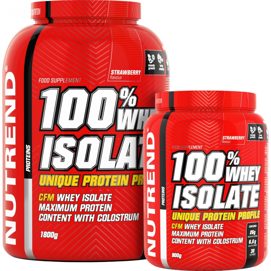 100 % Whey Isolate - akce 1800 g + 900 g - Nutrend