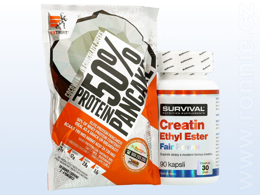 Creatin Ethyl Ester Fair Power (90 cps) + Protein Pancake 50 % (50 g)