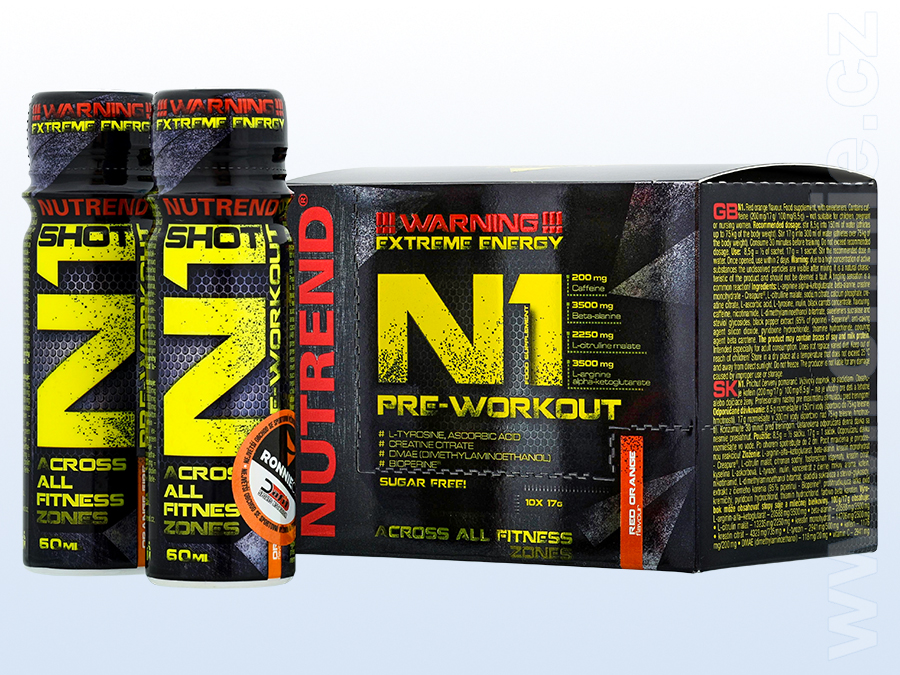 N1 Pre-Workout (10x 17 g) + N1 Shot (2x 60 ml)